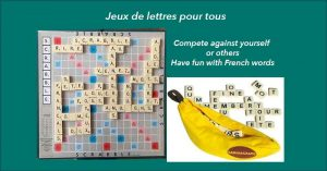 French Scrabble group and French Bananagrams group