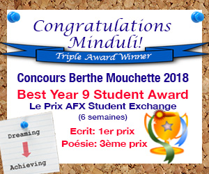 Congratulations Berthe Mouchette Awards